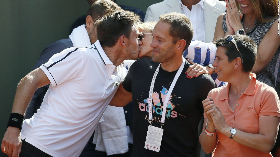 Mahut celebrated with his team after the Den Bosch victory over Belgian David Goffin. All three of his titles, his career-high ranking of 37th and representing France came following the 2010 loss to Isner.