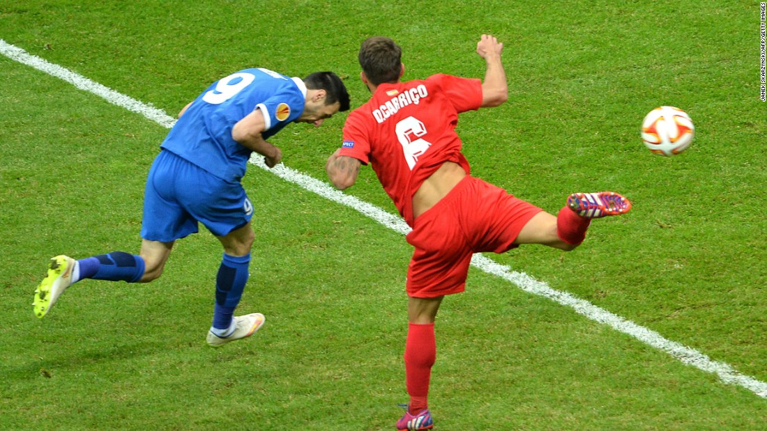 He had been involved in the opening goal of the match, crossing for Croatian forward Nikola Kalinic to head underdog Dnipro in front in the seventh minute of its first European final.