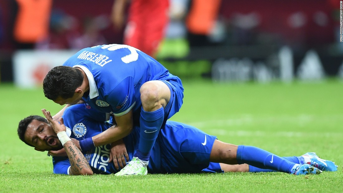 There was concern late in the game when Dnipro's Brazilian forward Matheus collapsed to the ground for no apparent reason.