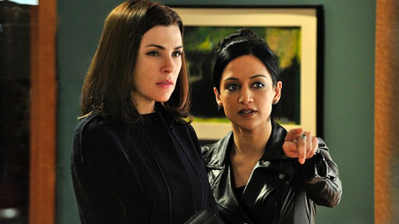 "TVLine reported that Julianna Margulies, left, and Archie Panjabi did not actually film their final scene together on the ""Good Wife."" According to the site, body doubles and special effects were used to create the scene. There have long been rumors of tension between the pair on the set of the hit CBS drama."