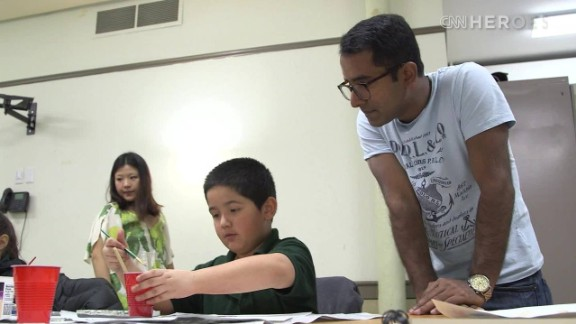Artist Adarsh Alphons' nonprofit, ProjectArt, provides free arts classes for New York City public school children. Once expelled from school for doodling, Alphons eventually presented his work to the late world leaders Nelson Mandela and Pope John Paul II.