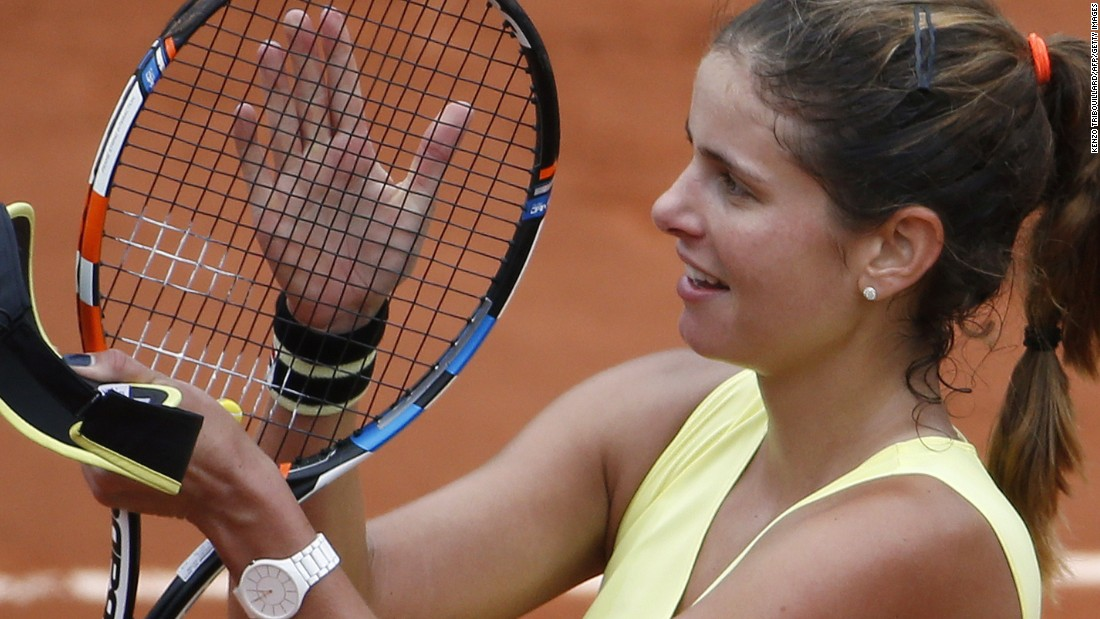 Goerges, once a top prospect, improved to 4-4 against Wozniacki.