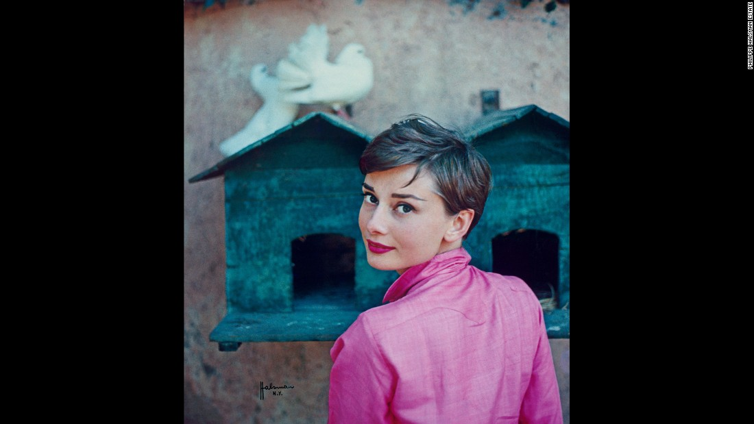 In addition to personal photos, the Hepburn exhibition showcases film stills, archival material and vintage magazine covers, such as this image that appeared on the cover of Life magazine on July 18, 1955.