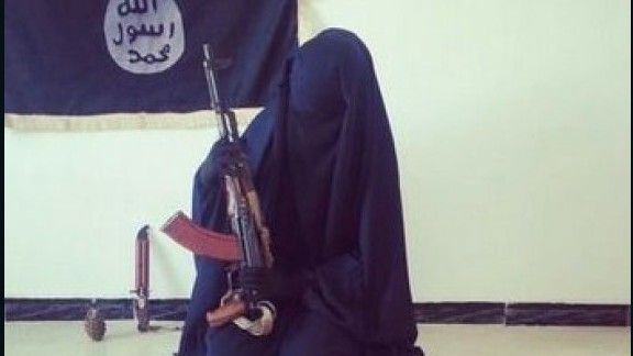 ISD says Zahra Hallane also posted this photo online. Supplied to CNN by ISD.