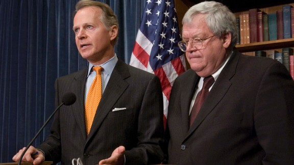 House Rules Chairman David Dreier and Hastert hold a news conference on a GOP lobbying reform package, which included banning privately funded travel and eliminating access to the House floor for former members who are registered lobbyists. On January 3, 2006, Hastert donated $70,000 of campaign contributions from companies associated with lobbyist Jack Abramoff to charity after Abramoff pleaded guilty to corruption charges.
