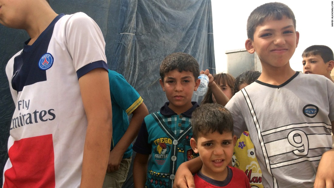 More than 120 families are housed at the refugee camp, which is situated not far from Baghdad's airport in a neighborhood well-acquainted with fighting and dislocation.