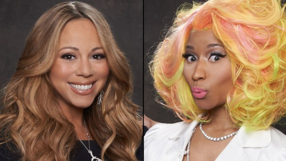 Mariah Carey and Nicki Minaj shared the judges