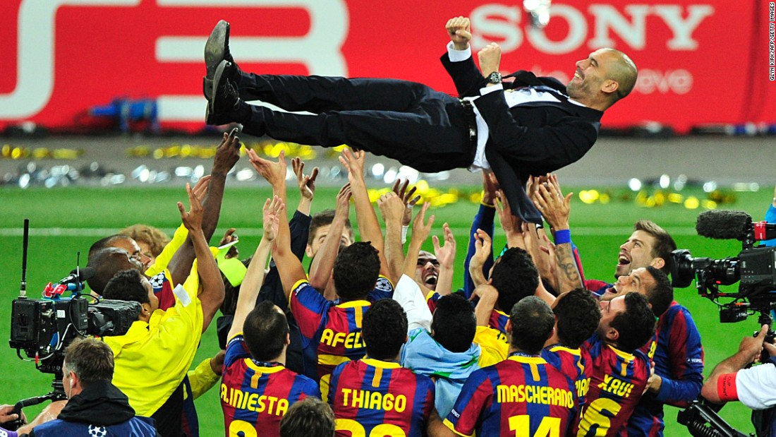 Pep Guardiola's Barcelona team outplayed Manchester United in the 2009 Champions League final at Wembley. Barca handed out a footballing masterclass to Sir Alex Ferguson's men, with Pedro, Lionel Messi and David Villa all getting on the scoresheet.