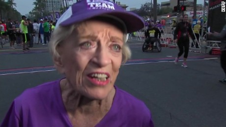 92-year-old becomes oldest woman to complete marathon