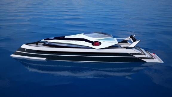 The sleek Monaco 2050 yacht as envisioned by Russian designer Vasily Klyukin.