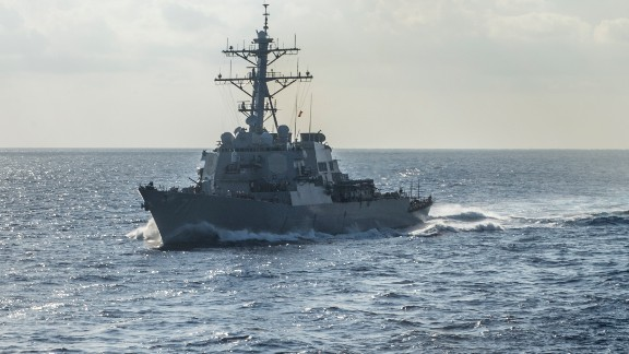 The Arleigh Burke-class guided-missile destroyer USS Ross.