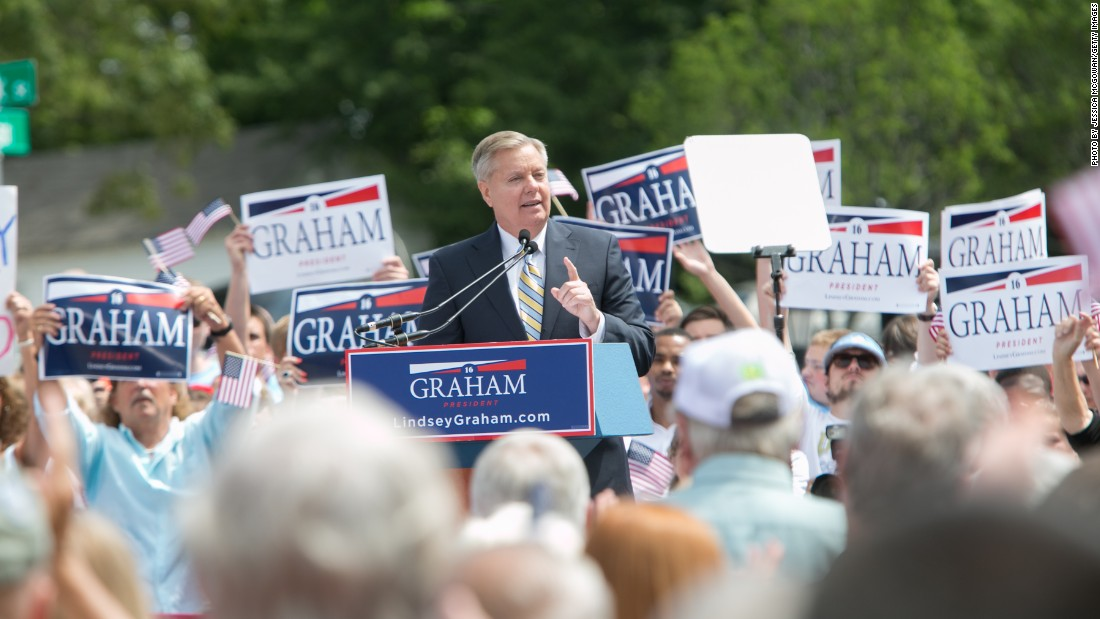 U.S. Sen. Lindsey Graham, R-South Carolina, who has dropped out of the presidential race.