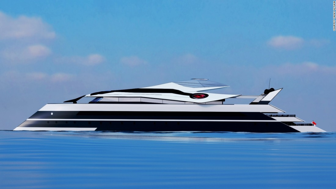 Klyukin has designed a number of high-concept yachts, although none have yet been built.