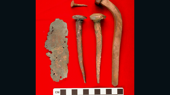 The African continent has been home to many historic finds over the years. Last June, archaeologists and divers found the remains of an 18th century Portuguese slave ship off the coast of Cape Town, South Africa. The ship is believed to have been on its way from Mozambique to Brazil in 1794. These copper fastenings and copper sheathing were also uncovered.