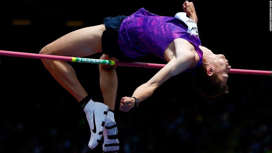 Ukrainian high jumper Andriy Protsenko competes at the Prefontaine Classic in Eugene, Oregon, on Saturday, May 30.