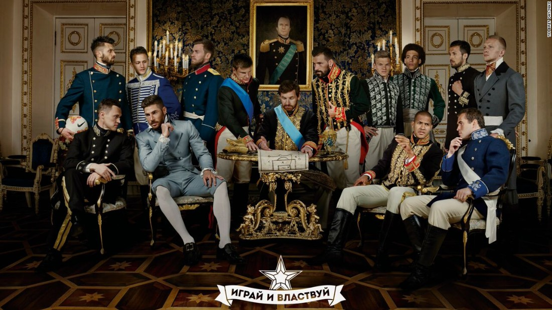 Zenit St. Petersburg lifted its fourth Russian league title at the weekend and celebrated in style -- a take on the country's 19th century attire.