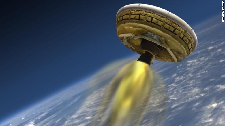 Image result for cnn nasa test flying saucer