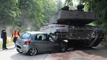 Military Tank Crushes Teenage Driver S Hood Cnn