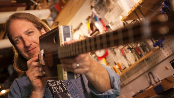 Old meets new: The first trace of cigar box instruments dates back to the mid-1800s, but Snowden couldn't sustain his cigar box guitar business without the Internet. The majority of his business comes from his website and YouTube channel. Since 2007, he has sold close to 1,000 guitars to people all over the world.