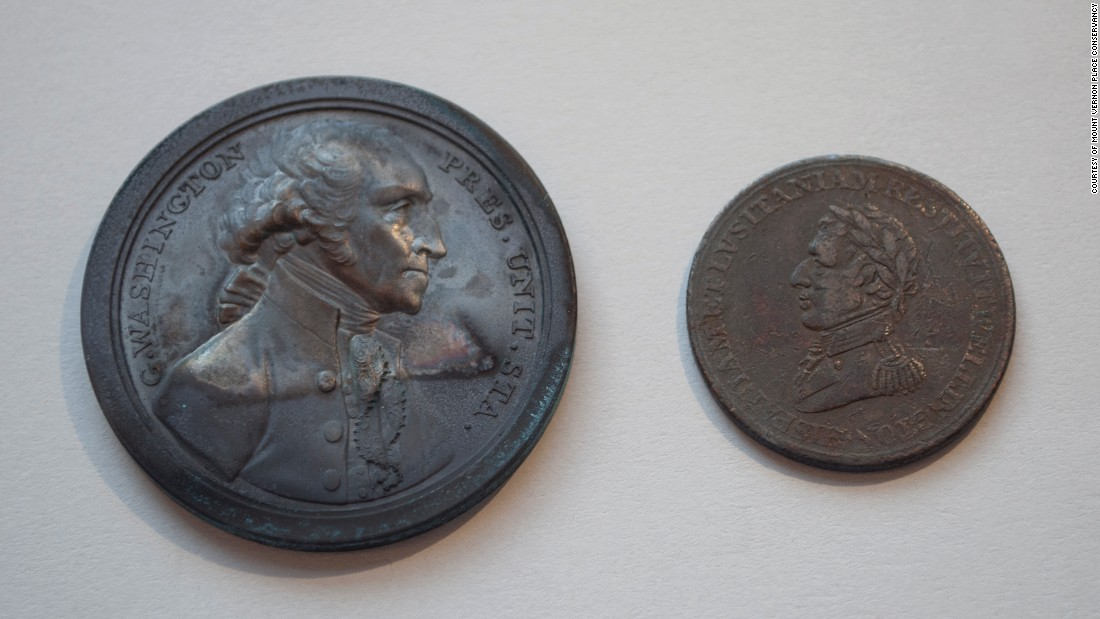 Military heroism loomed large then. Here are Washington and Duke of Wellington medals retrieved from Jar No. 1. The Wellington medal shows that the new nation kept an eye on what was going on in Europe.