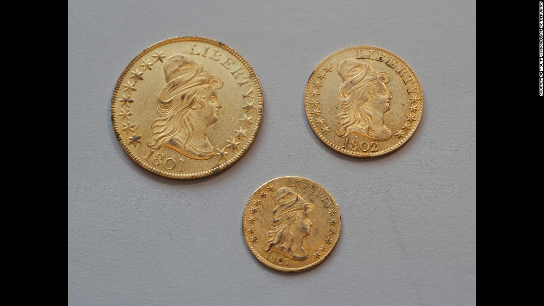 Folks from 1815 apparently had change to spare. Jar No. 1 held a Gold Eagle ($10), Half Eagle ($5) and Quarter Eagle ($2.50).