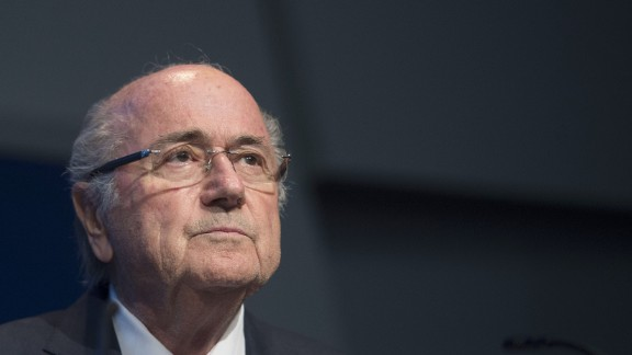 FIFA President Sepp Blatter holds a press conference at the headquarters of the world