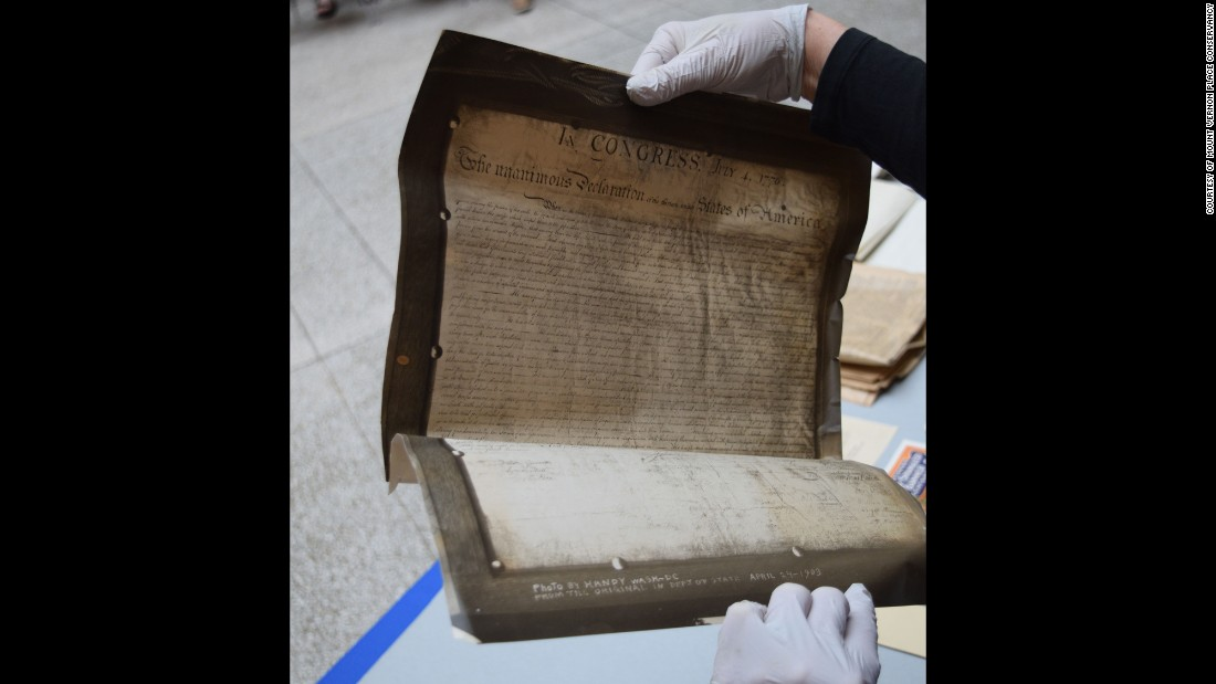 A century had passed since the first set of items were placed in the cornerstone, but items revealed on Tuesday, June 2, 2015, show that the pride of independence still mattered to Baltimore denizens when selecting materials for the 1915 time capsule.