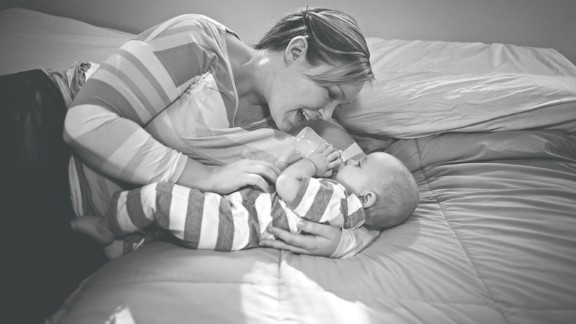 "Brittnae had hoped to breastfeed her son, Mason, but he continued to lose weight after birth. After several attempts to increase her supply, she began to feed Mason bottles of donated breast milk. ""My struggle to breastfeed and my journey to find what was best for our family has completely humbled me,"" Brittnae wrote on Whitman"