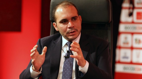 The 39-year-old son of the late King Hussein of Jordan has been a FIFA vice president since 2011, representing Asia. He is the president of the West Asia Football federation. In the first ballot in the recent FIFA presidential election, he only received 73 votes, and most of those likely came from European associations, after his candidacy was put forward by England. Prince Ali told CNN
