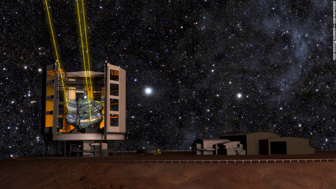The $1 billion project, announced by the Giant Magellan Telescope Organization, will soon begin construction on a mountainside at Las Campanas in northern Chile. The isolated location high in the dry air of the Atacama Desert will provide the perfect setting away from urban light pollution.