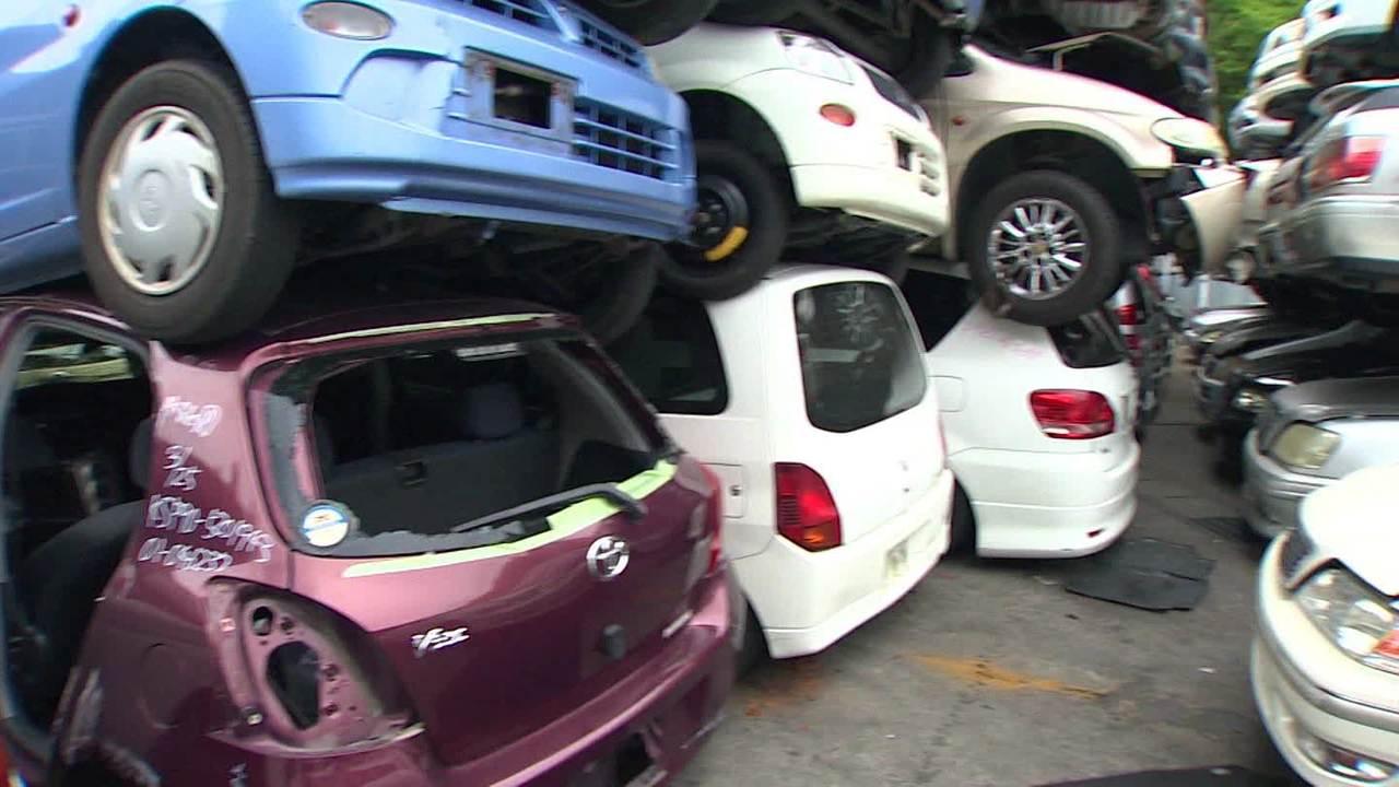 Airbags still exploding in a Japanese junkyard - CNN Video