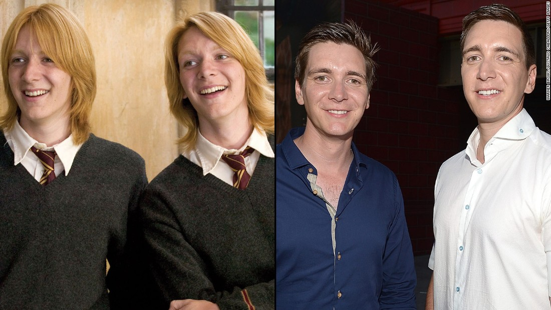 "The brothers who played the elder Weasleys -- George and Fred -- <a href=""http://www.dailymail.co.uk/tvshowbiz/article-2169421/Harry-Potter-stars-James-Oliver-Phelps-ditch-ginger-hair-dye-head-Hollywood.html"" target=""_blank"">don't have the trademark ginger hair anymore</a>, but they're still recognizable as the prankster pair. James and Oliver Phelps are still happy to talk all things ""Potter,"" even as they move on to other endeavors. James has been active on stage, and Oliver has been traveling in support of his website, <a href=""http://www.jopworld.com/category/blog/"" target=""_blank"">JopWorld.com.</a>"