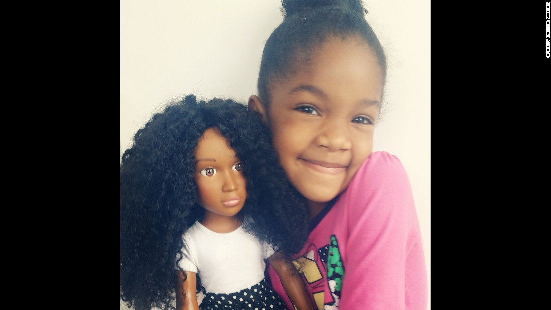 Worried about her daughters expressing dislike for their own facial features, skin tone and hair, African-American mom Angelica Sweeting launched Naturally Perfect Dolls to help young girls of color see themselves in their toys.