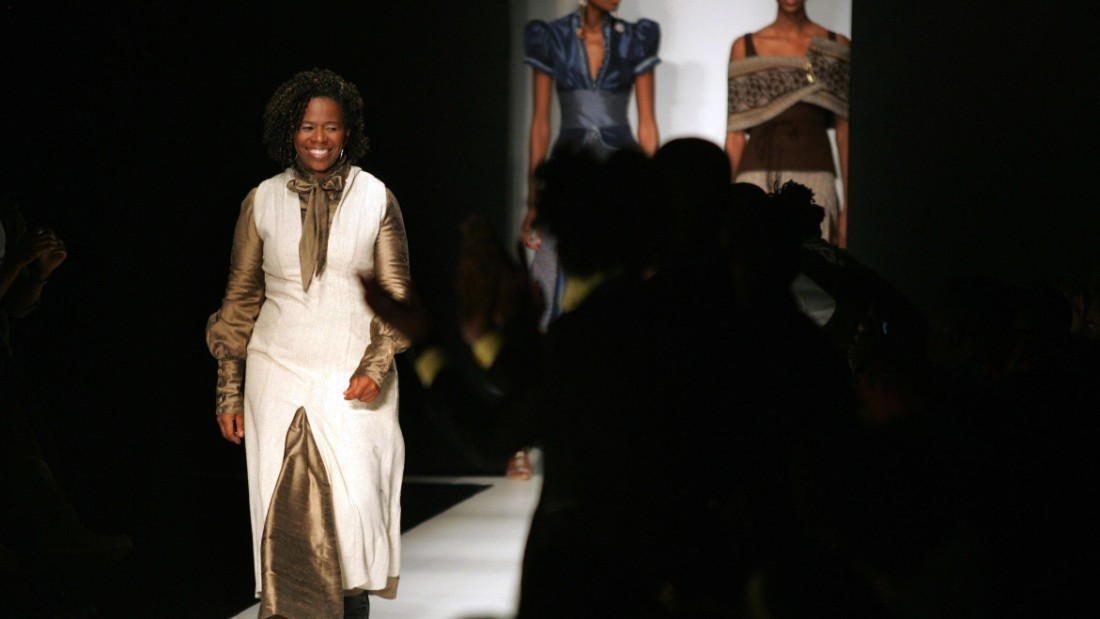 Walaza, who regularly works with a South African fabric called Original Shweshwe, produces clothes firmly tied to South Africa. The former engineer can use 10 metres of the material for a single outfit.
