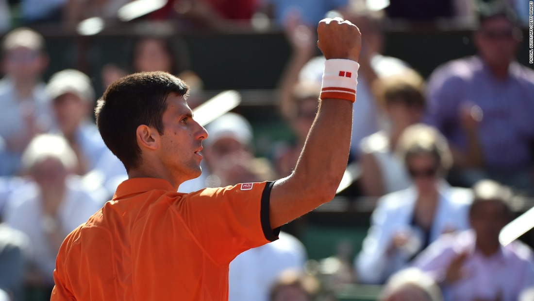 Novak Djokovic was in celebratory mood Wednesday and why not? He became only the second man to beat Rafael Nadal at the French Open.