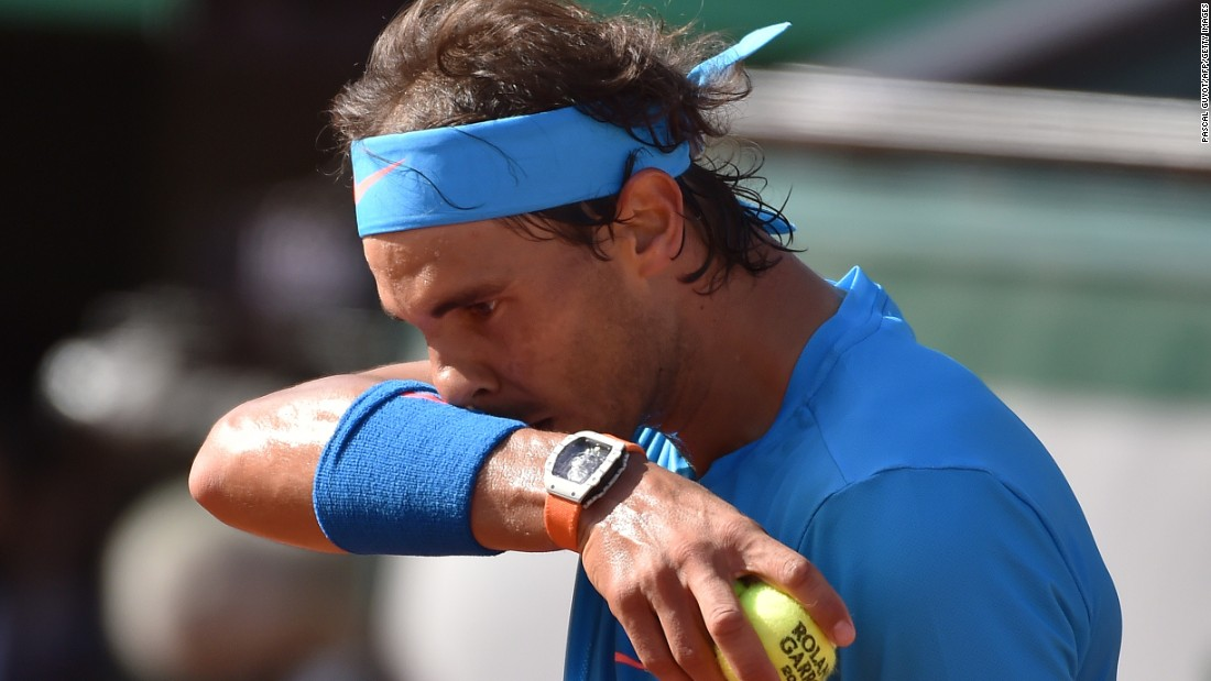 "Nadal vowed to ""fight"" to get back to winning ways. He'll now think of the grass-court season, which begins Monday."
