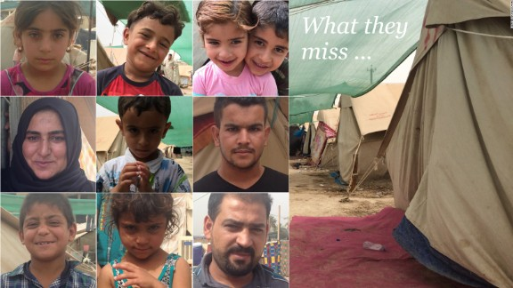 CNN talked to internally displaced Sunni families in western Baghdad about the items they were forced to leave behind as they fled from ISIS brutality in Anbar province.