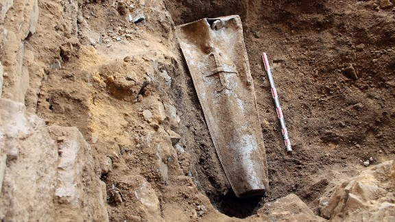 A team from the French National Institute for Preventive Archaeological Research discovered the body in a hermetically sealed lead coffin during a rescue excavation on a construction site for a conference center in Rennes in northwestern France.