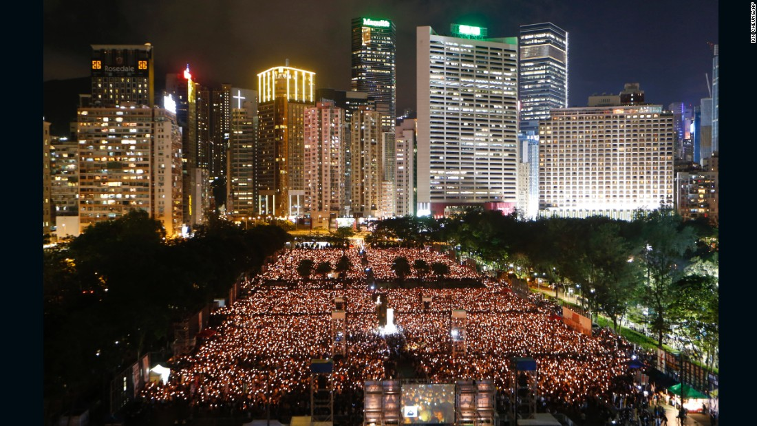 In recent years, the crowds have swelled in size as anxiety grows over China's increasing influence in Hong Kong, a former British colony.
