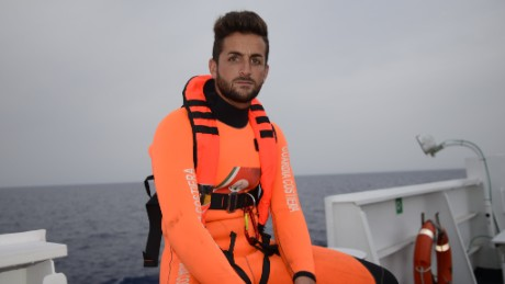 Rescue swimmer saves lives on Mediterranean