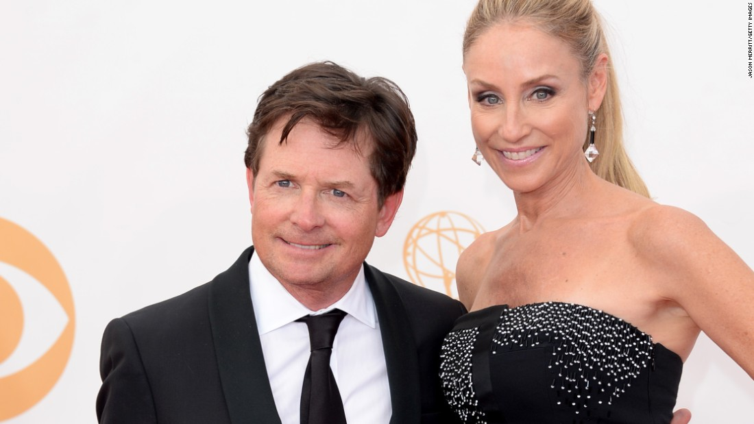 "Back to the Future Star Michael J. Fox, pictured here with his wife, actress Tracy Pollan, <a href=""https://www.michaeljfox.org/"" target=""_blank"">created an eponymous foundation</a> that helps individuals suffering from Parkinson's."