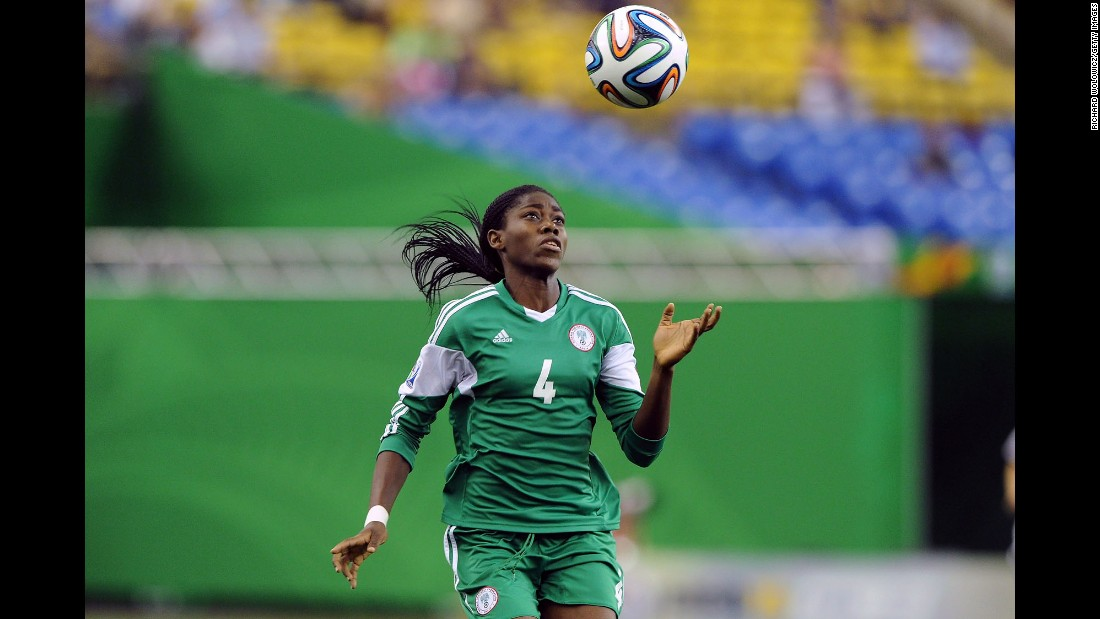 Oshoala has enjoyed a stellar season in England where she plays for Liverpool. She was named as the best player at the Under-20 World Cup where Nigeria finished second to Germany. At just 20, she's one of the most exciting talents on the scene and was recently named as the BBC's Women's Footballer of the Year. She helped Nigeria win the African Championships in 2014 and will appear in next season's European Champions League.