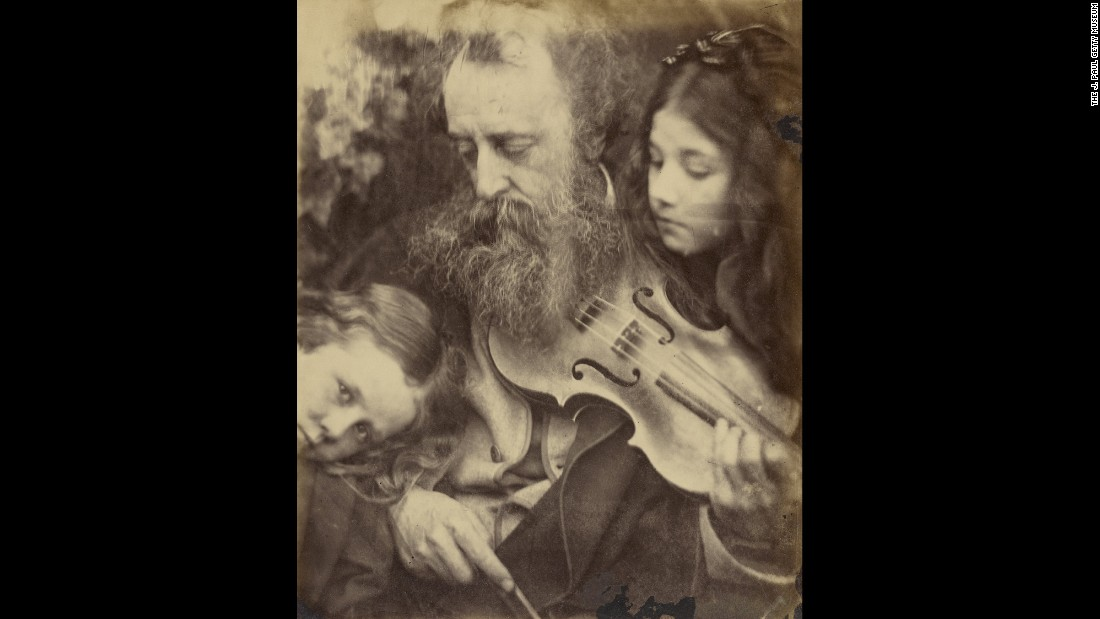 Despite the fame of her subjects, Cameron's work didn't become well-known until the 1940s, when a book of her photos was published. George Frederic Watts, pictured here, was a painter and sculptor -- in his time, considered the greatest of Victorian English painters. This photo was taken in 1865.