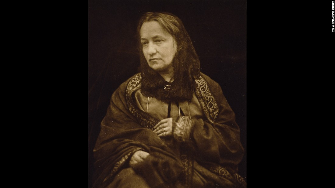 Cameron is seen here in this 1874 portrait taken by her son, Henry Herschel Hay Cameron. Julia Margaret Cameron took about 900 photos in 12 years, but when her family moved to Sri Lanka (then known as Ceylon), her photographic career was essentially over. She died in 1879 at the age of 63.