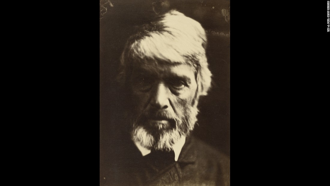 "Historian and philosopher Thomas Carlyle is probably best remembered these days for his history of the French Revolution, but he also wrote novels, essays and satires. His photograph was taken by Cameron in 1867. Posing for Cameron wasn't for the fainthearted; Tennyson described her subjects as ""victims."" But the results speak for themselves: The images are imbued with ""powerful spiritual content,"" wrote Malcolm Daniel of the Metropolitan Museum of Art."