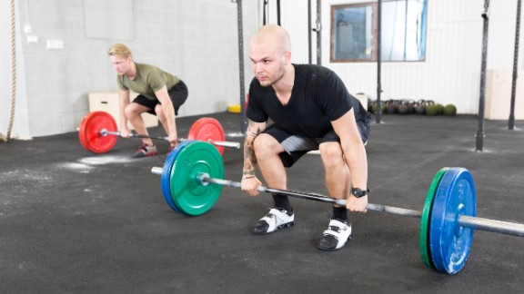 Romanian dead lift: Most commonly, a person will fall into hyperextension through the low back while lowering and lifting weight, which could result in lumbar disc injury or muscular spasm.