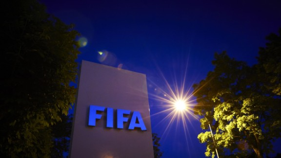 The FIFA logo is pictured at the FIFA headquarters on June 2, 2015 in Zurich. Blatter on June 2, 2015 resigned as president of FIFA as a mounting corruption scandal engulfed world football
