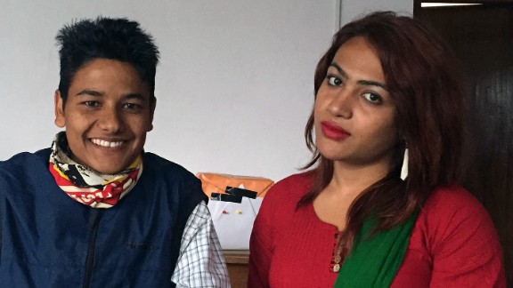Bhakti Shah, left, and Aakanshya Timsina work as advocates for LGBT rights in Nepal.