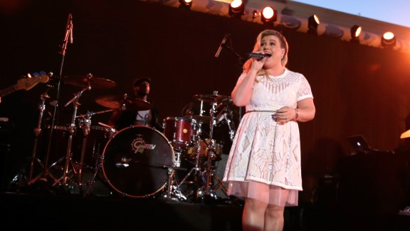 "Singer Kelly Clarkson has seen her weight fluctuate over the years. The Internet had a great deal to say after she didn't immediately shed the weight after the birth of her daughter in 2014. ""I don't obsess about my weight, which is probably one of the reasons why other people have such a problem with it,"" she told Redbook. In July she responded to a Twitter troll who called her fat by tweeting ""and still f***ing awesome."""