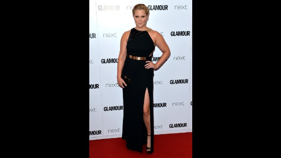 "Amy Schumer recently posted an Instagram photo that she said was of Glamour magazine including her with plus-size performers. It's not the first time she's been categorized as such. In February 2015, she shot back at a critic who accused her of being overweight by posing topless in her underwear. In June, she accepted a Glamour Award in London and said in her speech, ""I'm probably like 160 pounds right now, and I can catch a d*** whenever I want. That's the truth. It's not a problem."""